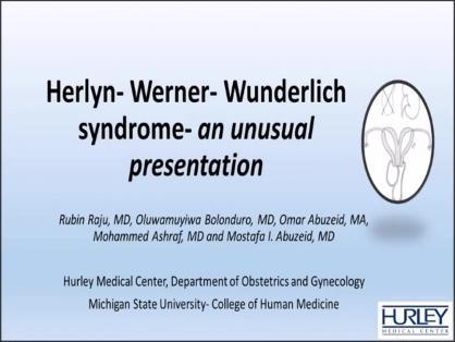 HERLYN WERNER WUNDERLICH SYNDROME- AN UNUSAL PRESENTATION