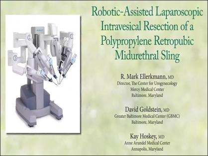 ROBOTIC-ASSISTED LAPAROSCOPIC INTRAVESICAL RESECTION OF A POLYPROPYLENE RETROPUBIC MID-URETHRAL SLIN