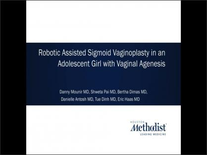 Robotic Assisted Sigmoid Vaginoplasty in an Adolescent Girl with Vaginal Agenesis