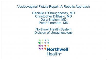 Vesicovaginal Fistula Repair: A Robotic Approach