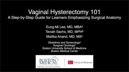 VAGINAL HYSTERECTOMY 101: A STEP-BY-STEP GUIDE FOR LEARNERS EMPHASIZING SURGICAL ANATOMY