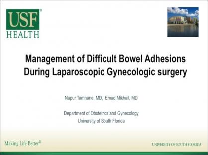 Management of Difficult Bowel Adhesions During Laparoscopic Gynecologic Surgery