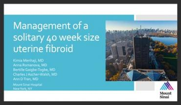 MANAGEMENT OF A SOLITARY 40 WEEK SIZE UTERINE FIBROID