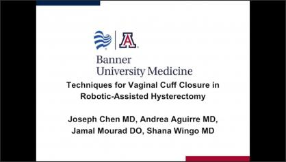 Techniques for vaginal cuff closure in robotic-assisted hysterectomies