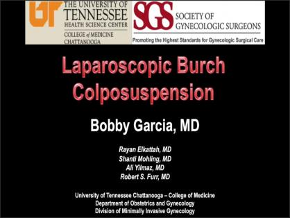 LAPAROSCOPIC BURCH COLPOSUSPENSION