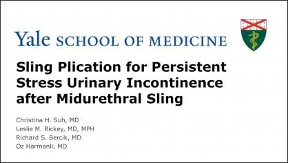 SLING PLICATION FOR PERSISTENT STRESS URINARY INCONTINENCE AFTER MIDURETHRAL SLING