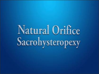 NATURAL ORIFICE SACROHYSTEROPEXY