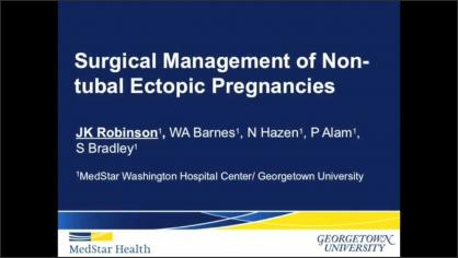 SURGICAL MANAGEMENT OF NON-TUBAL ECTOPIC PREGNANCIES