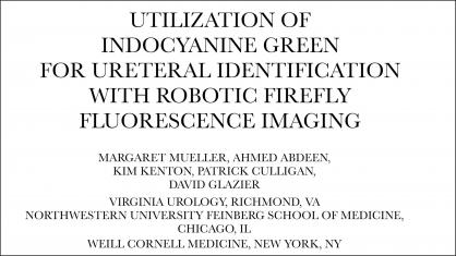 UTILIZATION OF INDOCYANINE GREEN FOR URETERAL IDENTIFICATION WITH ROBOTIC FIREFLY FLUORESCENCE IMAGI