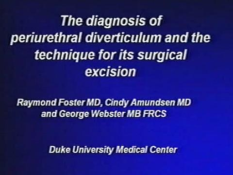 Transvaginal Surgery for Periurethral Diverticulum: Optimizing Preoperative Evaluation and Key Point