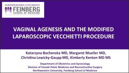 VAGINAL AGENESIS AND THE MODIFIED LAPAROSCOPIC VECCHIETTI PROCEDURE