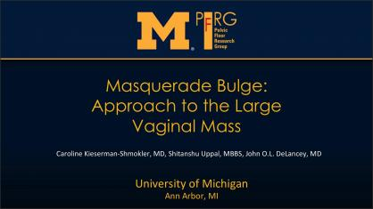 MASQUERADE BULGE: APPROACH TO THE LARGE VAGINAL MASS
