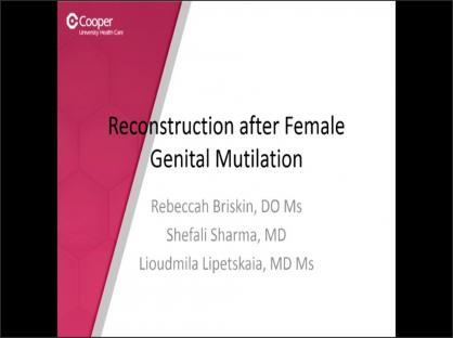 Reconstruction after Female Genital Mutilation