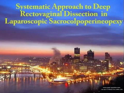 SYSTEMATIC APPROACH TO DEEP RECTOVAGINAL DISSECTION IN LAPAROSCOPIC SACROCOLPOPERINEOPEXY