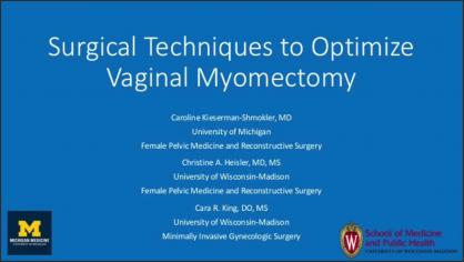 Surgical Techniques to Optimize Vaginal Myomectomy