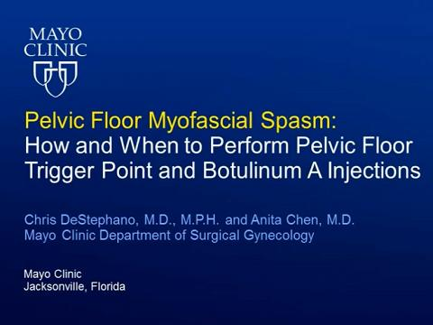PELVIC FLOOR MYOFASCIAL SPASM: HOW AND WHEN TO PERFORM PELVIC FLOOR TRIGGER POINT AND BOTULINUM A IN
