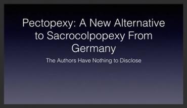 PECTOPEXY: AN ALTERNATIVE TO SACROCOLPOPEXY