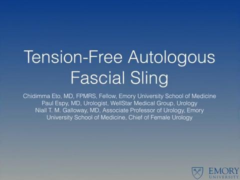 TENSION-FREE AUTOLOGOUS FASCIAL SLING