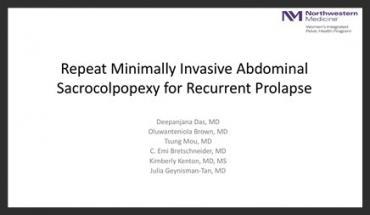 REPEAT MINIMALLY INVASIVE ABDOMINAL SACROCOLPOPEXY FOR RECURRENT PROLAPSE