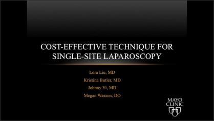 Cost-effective Technique for Single-Site Laparoscopy