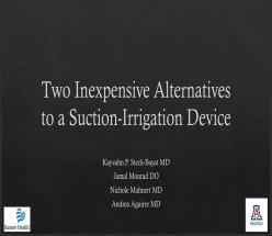 Two Inexpensive Alternatives to a Suction-Irrigation Device