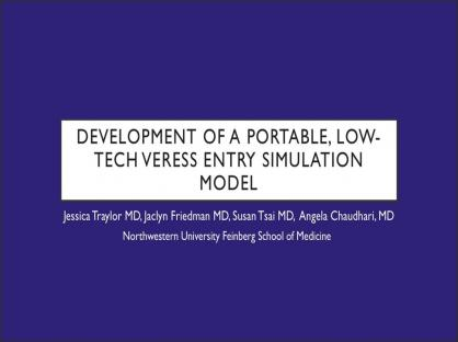 Development of a Portable, Low-Tech Veress Entry Simulation Model