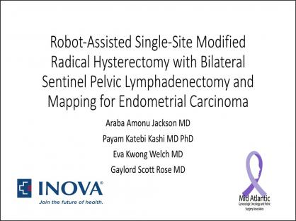 Robot-Assisted Single-Site Modified Radical Hysterectomy with Bilateral Sentinel Pelvic Lymphadenect