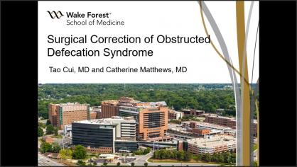 SURGICAL CORRECTION OF OBSTRUCTED DEFECATION SYNDROME