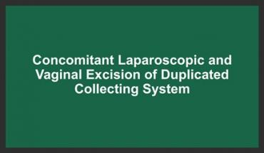 CONCOMITANT LAPAROSCOPIC AND VAGINAL EXCISION OF DUPLICATED COLLECTING SYSTEM