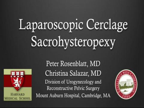 LAPAROSCOPIC CERCLAGE SACROHYSTEROPEXY: A NOVEL SIMPLIFIED TECHNIQUE
