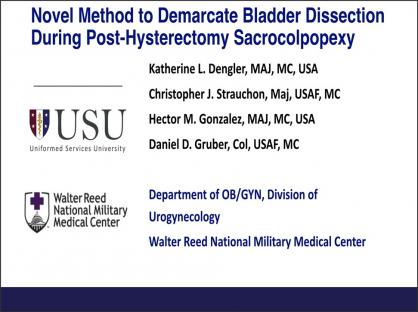 Novel Method to Demarcate Bladder Dissection During Post-Hysterectomy Colpopexy