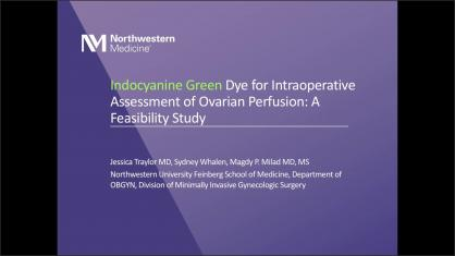 INDOCYANINE GREEN DYE FOR INTRAOPERATIVE ASSESSMENT OF OVARIAN PERFUSION: A FEASIBILITY STUDY