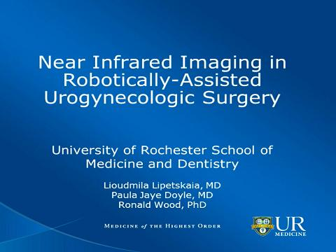 NEAR INFRARED IMAGING IN ROBOTICALLY-ASSISTED UROGYNECOLOGIC SURGERY