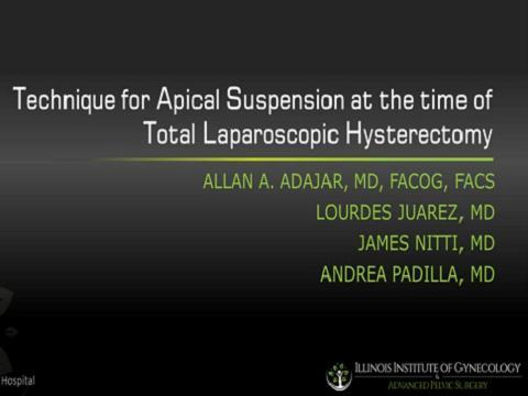TECHNIQUE FOR APICAL SUSPENSION AT THE TIME OF TOTAL LAPAROSCOPIC HYSTERECTOMY
