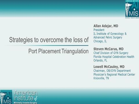 STRATEGIES TO OVERCOME THE LOSS OF PORT PLACEMENT TRIANGULATION.