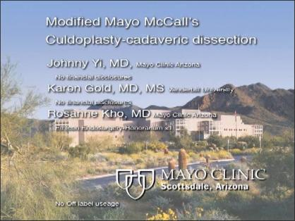 Modified Mayo McCall's Culdoplasty - A Cadaveric Dissection