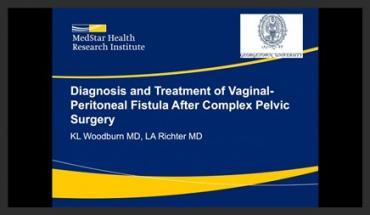 DIAGNOSIS AND TREATMENT OF VAGINAL-PERITONEAL FISTULA AFTER COMPLEX PELVIC SURGERY