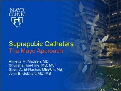 SUPRAPUBIC CATHETERS: THE MAYO APPROACH