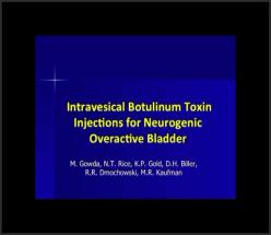 Intravesical Botulinum Toxin Injections for Neurogenic Overactive Bladder