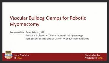 VASCULAR BULLDOG CLAMPS FOR ROBOTIC MYOMECTOMY