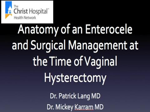 ANATOMY OF AN ENTEROCELE AND SURGICAL MANAGEMENT AT THE TIME OF VAGINAL HYSTERECTOMY