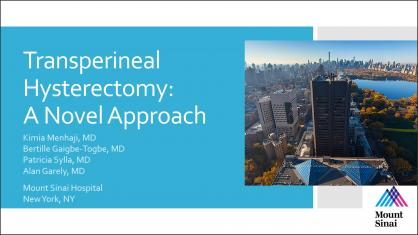 TRANSPERINEAL HYSTERECTOMY: A NOVEL APPROACH