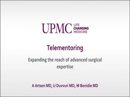 Robotic telementoring: expanding the reach of advanced surgical expertise