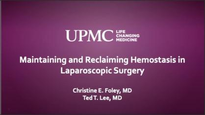 MAINTAINING AND RECLAIMING HEMOSTASIS IN LAPAROSCOPIC SURGERY