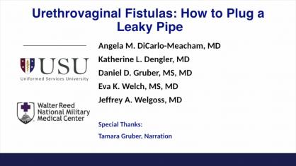URETHROVAGINAL FISTULAS: HOW TO PLUG A LEAKY PIPE