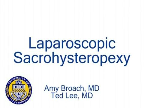 LAPAROSCOPIC SACROHYSTEROPEXY