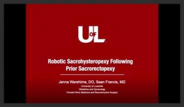 ROBOTIC SACROHYSTEROPEXY FOLLOWING PRIOR SACRORECTOPEXY
