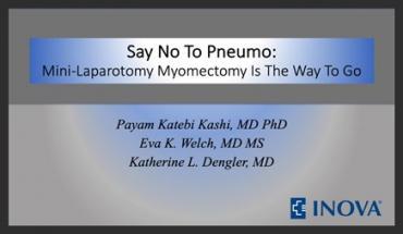 SAY NO TO PNEUMO: MINI-LAPAROTOMY MYOMECTOMY IS THE WAY TO GO