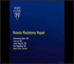 Robotic Rectotomy Repair