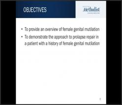 Pelvic Organ Prolapse Surgery in the Setting of Female Genital Mutilation